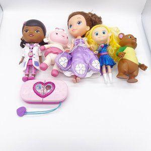 Disney Junior Doll Lot Doc McStuffins Sofia Goldie